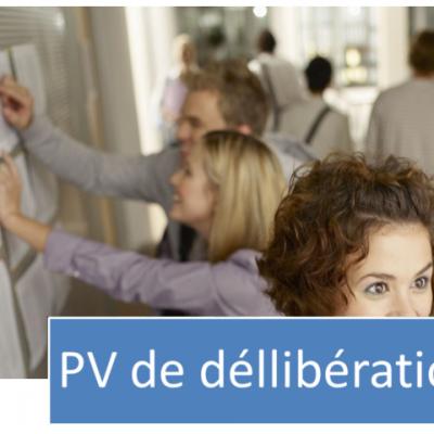 PV de déllibération